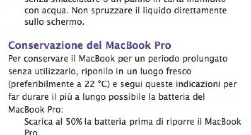 MacBook Pro: critiche per la pulizia dello schermo